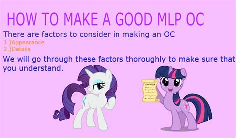 how to build a great how to make a mlp oc