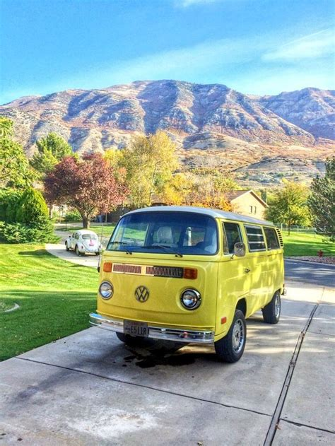 old volkswagen yellow vw t2 yellow hmm whoever owes this must be really