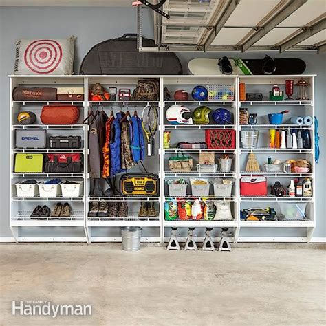 Garage Storage Ideas Handyman Wire Shelving Melamine Garage Storage Plans The Family