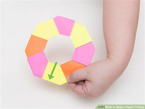 How To Make A Origami Frisbee - how to make a paper frisbee 11 steps with pictures