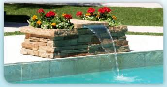 how to build a waterfall into a pool diy pool waterfall pinteres