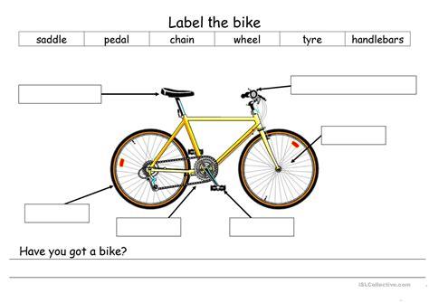 Label A Bike Worksheet label the bike worksheet free esl printable worksheets