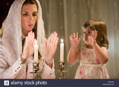 blessing shabbat candles and blessing on shabbat candles stock photo royalty free image 26730233 alamy