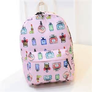 Lightweight canvas backpack for teenage girls wholesale