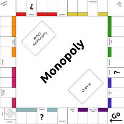 Empty Monopoly Board Template by Monopoly Template By Lunarcloud On Deviantart