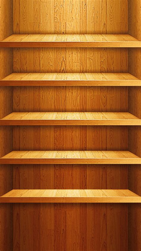 Shelf Iphone 5 Wallpaper by Wood Shelf Cool Iphone Wallpapers