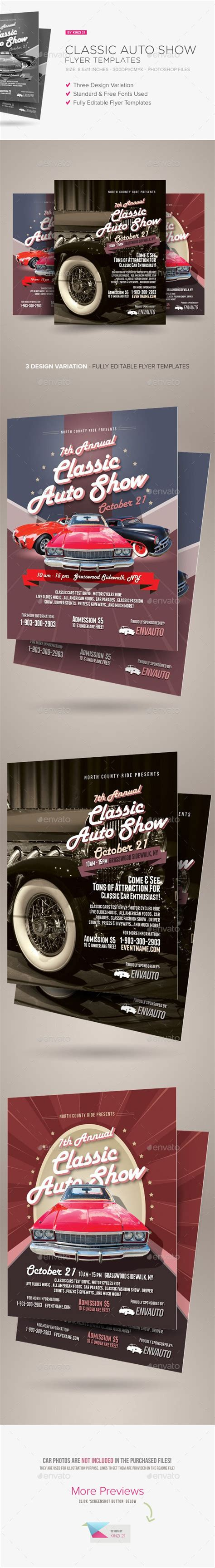buy flyer templates classic auto show flyers template psd buy and