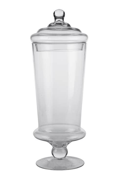 vasi di vetro con coperchio vasi e decori vasi conici in vetro con piedistallo e