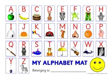 printable alphabet placemat capital uppercase letters posters desktop mats and