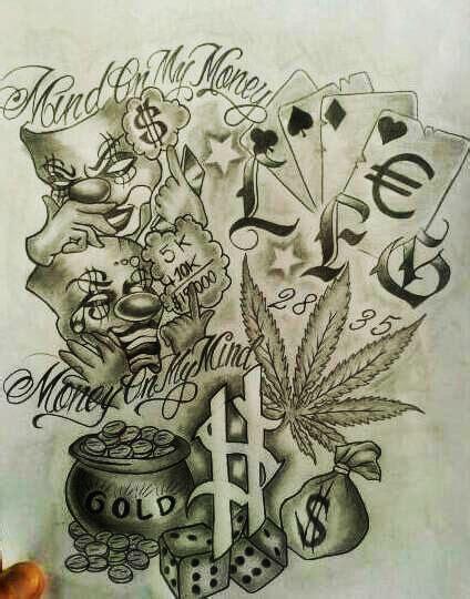 mexican gangster tattoo designs de 25 bedste id 233 er til gangstertatoveringer p 229