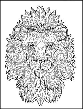 lion zentangle color me zoo pinterest lions adult lion zentangle creative animals coloring book for adults