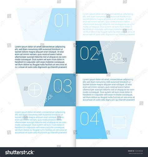 layout design minimal modern design minimal style infographic template stock