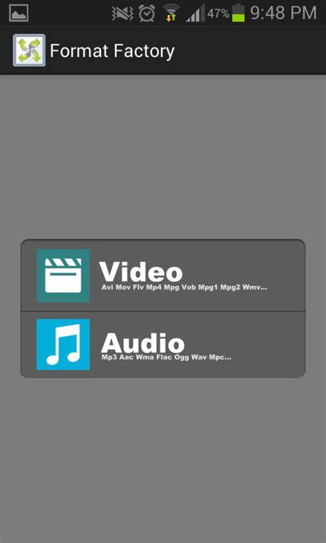 convertir format audio en wav format factory la aplicaci 243 n para convertir audio y v 237 deo