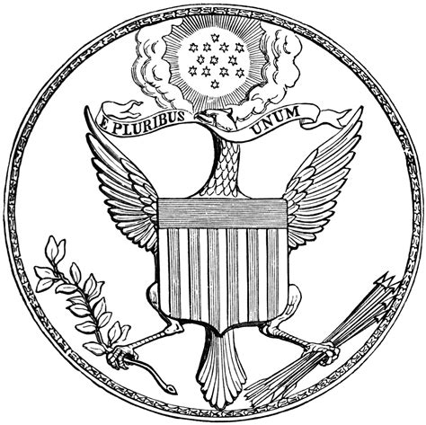 first great seal of the united states front clipart etc