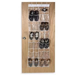shoe organiser crystal clear 24 pocket over the door vinyl shoe organizer