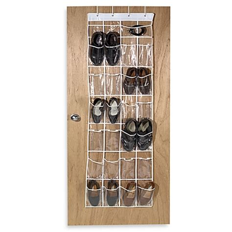 over the door shoe organizer crystal clear 24 pocket over the door vinyl shoe organizer