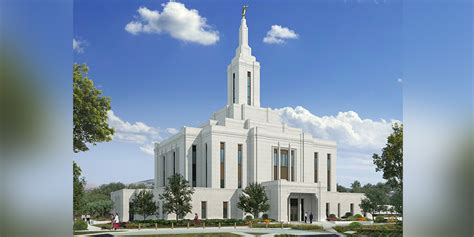 beautiful rendering released  pocatello idaho temple lds daily