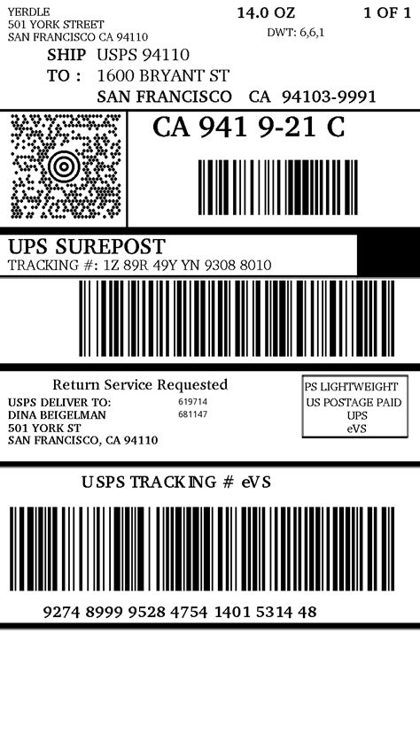 Ups Shipping Label Template 4 Popular Sles Templates Package Label Template
