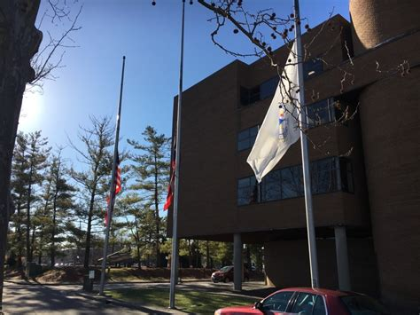 Middletown City Court Records Flags In Middletown At Half Mast