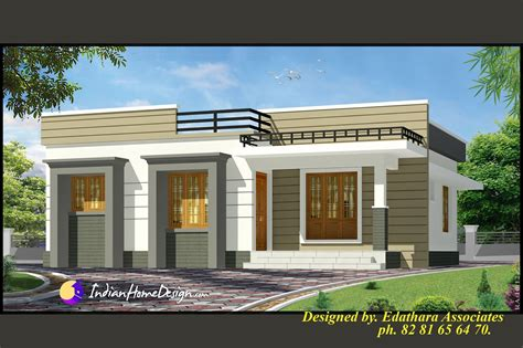 New Single Floor House Plans 998 Sqft Modern Single Floor Kerala Home Design Indian