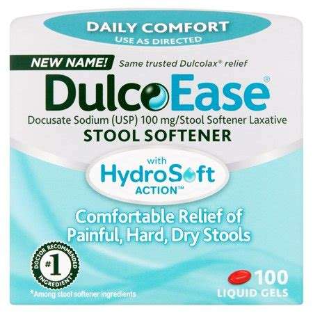 What Is In Dulcolax Stool Softener by Dulcolax Stool Softener Liquic Gels 100ct Docusate Sodium