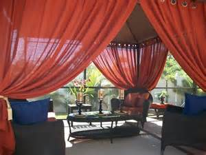 Curtains For Gazebo Patio Pizazz Indoor Outdoor Gazebo Drapes Curtains Price Includes 2 Panels Ebay