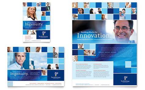 advertisement template technology consulting it flyer ad template design