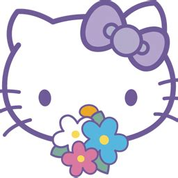 Up To Hello Kittys Smiling On Your Radio Alarm Clock by Hello 卡通png图标 256x256png图标 Png素材 素彩图标大全