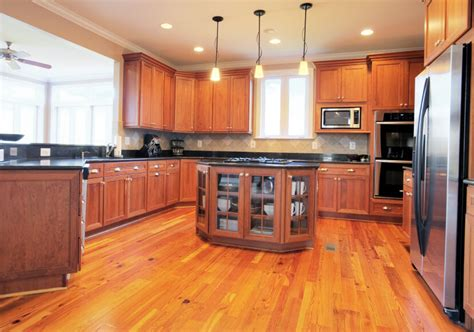 golden oak cabinets with wood floors 52 enticing kitchens with light and honey wood floors