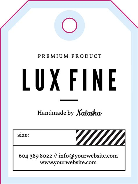Blank Luggage Tag Template