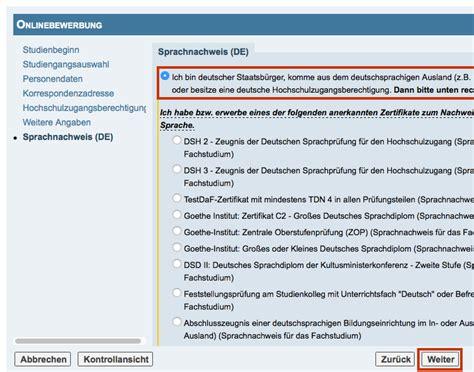 Hochschulstart Bewerbung Nicht Angezeigt bewerbende mit deutscher hzb