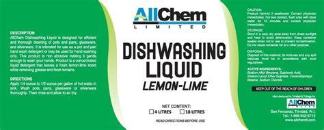 label design for dishwashing liquid commercial kitchens allchem limited