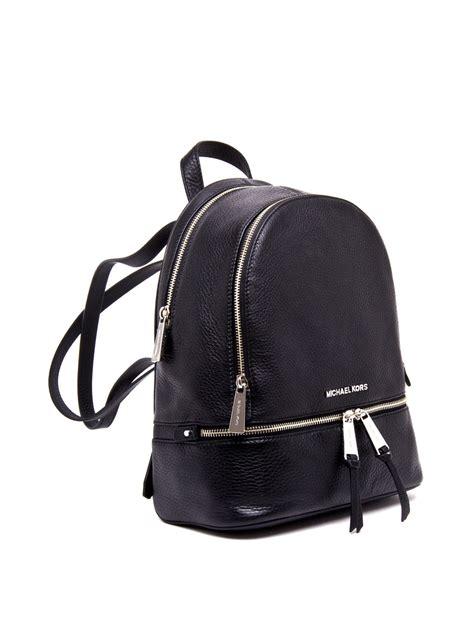 Tas Michael Kors Original Rhea Backpack Size Medium Sign Brown Nwt rhea small leather backpack by michael kors backpacks