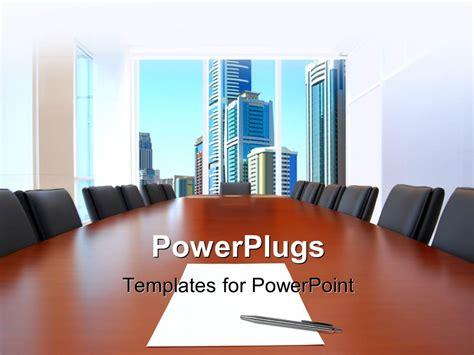meeting room powerpoint template slidesbase powerpoint template meeting room in front focus sheet of