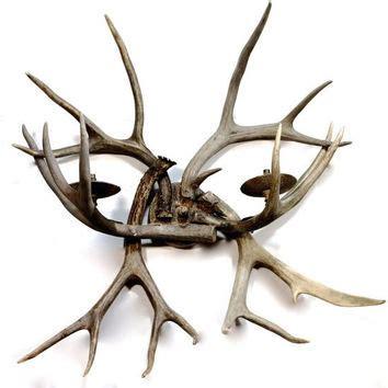 Deer Antler Light Fixture Vintage Deer Antler Wall Sconce Lighting From Yourgreatfinds