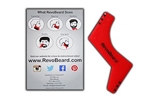 Revobeard Template Stylish Cukur Jenggot revobeard beard styling template stencil for lightweight and one size fits all