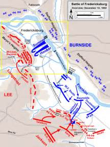 map fredericksburg battle of fredericksburg ambrose burnside general joseph