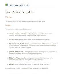 Call Script Template by Sales Script Template