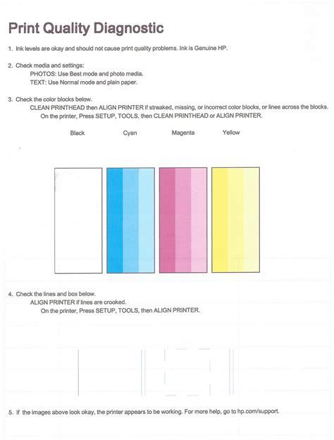 100 color laser printer test page hp laserjet pro
