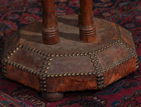 Leather Nailhead by Leather And Nailhead Side Table For Sale At 1stdibs