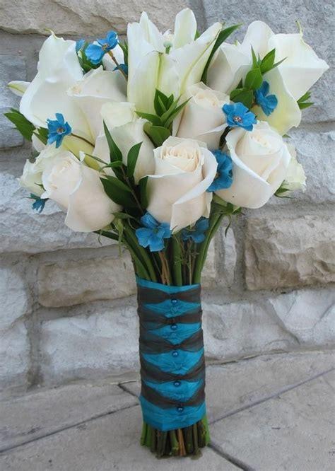 teal wedding bouquet
