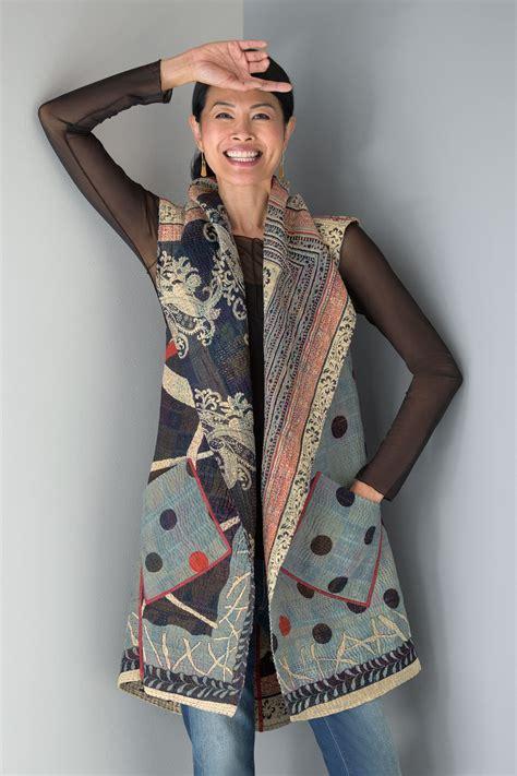 Artist Vest Pattern   dot paisley circular vest by mieko mintz cotton vest