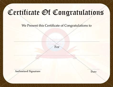 congratulations certificate template top 7 ideas about congratulation certificate on