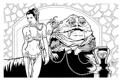 jabba coloring pages jabba the hutt coloring pages