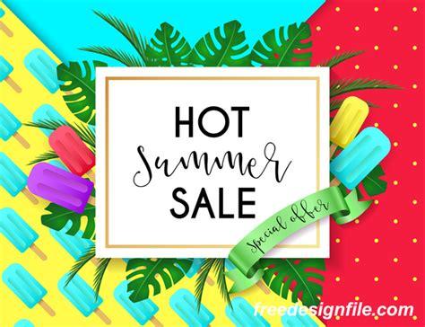 poster design vector file hot summer sale poster design vectors 05 vector cover