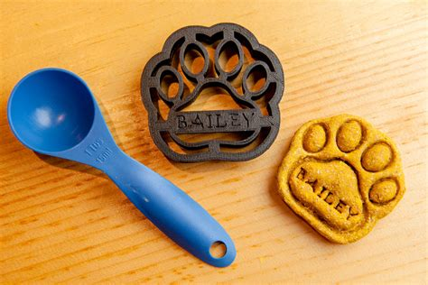 treat cookie cutters paw cookie cutter custom treat personalized pet medium