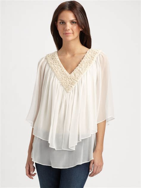 Blouse Chiffon silk chiffon blouse white blouse with