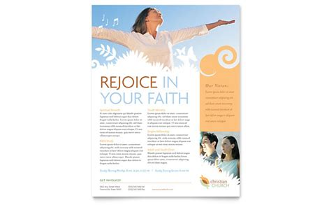Christian Church Flyer Template Design Christian Flyer Templates Free