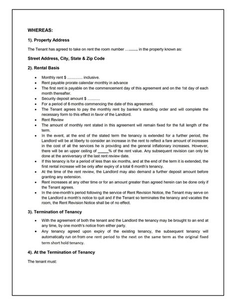standard tenancy agreement template standard tenancy agreement template sletemplatess