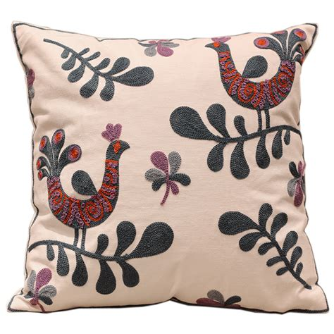 sofa cushion covers designs birds 100 cotton embroidery sofa cushion covers
